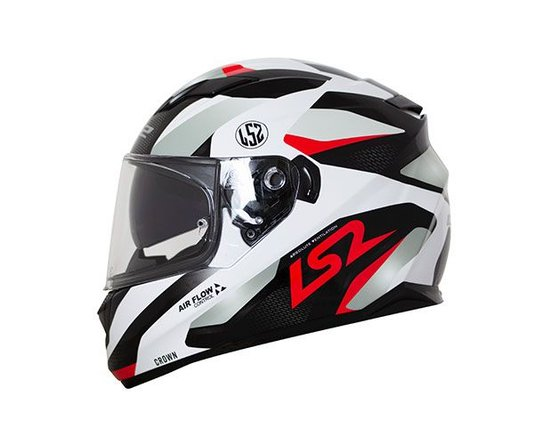 Capacete LS2 FF320 Stream  Crown Wht/Red