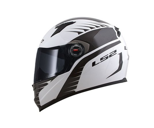 Capacete LS2 FF358 Air Fighter White/Black Fechado