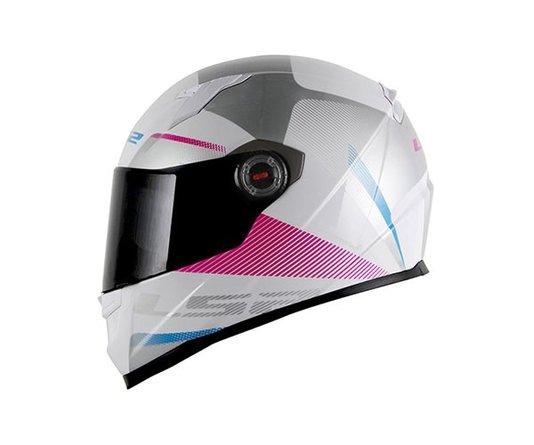 Capacete LS2 FF358 Tyrell  White/Violet Fechado