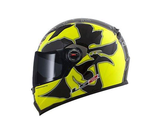 Capacete LS2 FF358 Warrior Black/Yellow Fechado