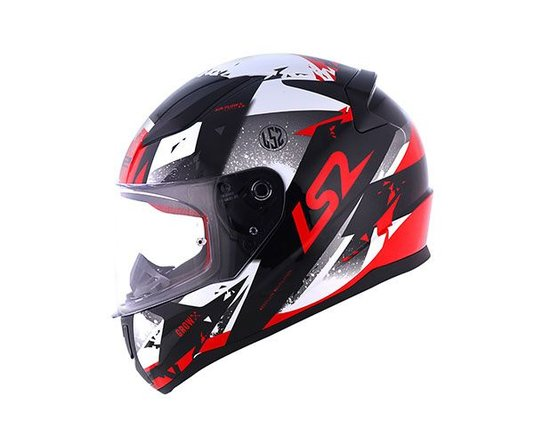 Capacete LS2 Rapid FF353 Grow Blk/Sil/Red