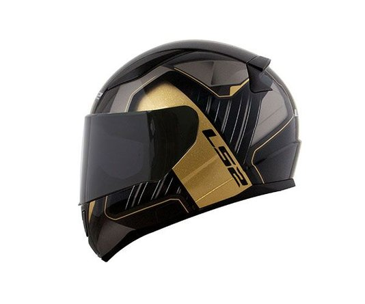 Capacete LS2 Rapid FF353 Medal BLK/GRY/Gold
