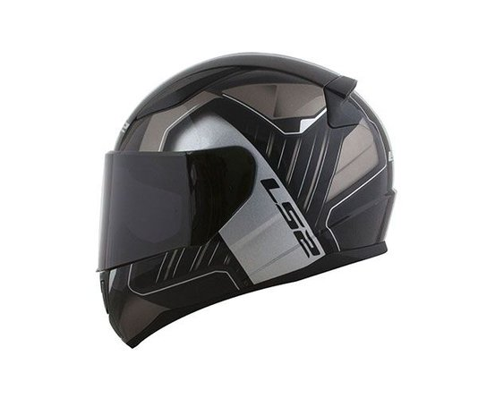 Capacete LS2 Rapid FF353 Medal BLK/GRY/Silver