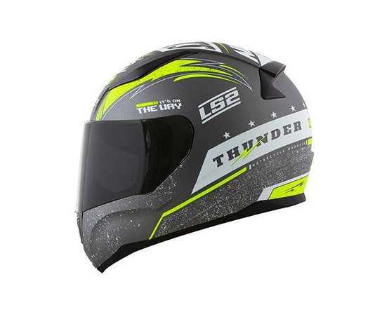 Capacete LS2 Rapid FF353 Thunder Matte Gry/wht/Fluor Ylw