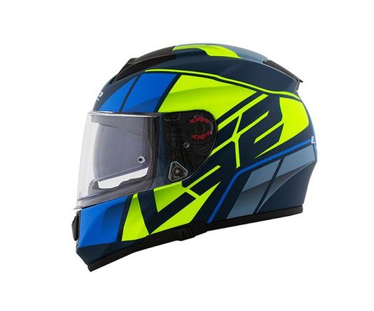 Capacete LS2 Vector FF397 FT2 Kripton Matte Blue/HV Yellow