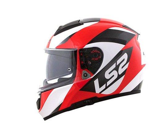 Capacete LS2 Vector FF397 Wavy BLK/WHT/Red