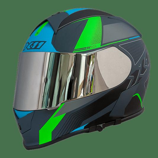 Capacete  X11 Revo Pro Flagger SV C/ Viseira Extra