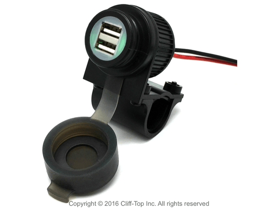 Carregador USB Duplo 4 Amp p/ Guidão Cliff Top