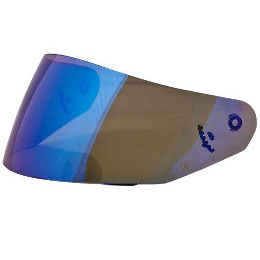 Viseira Capacete Norisk FF391/389/369 Espelhada Azul
