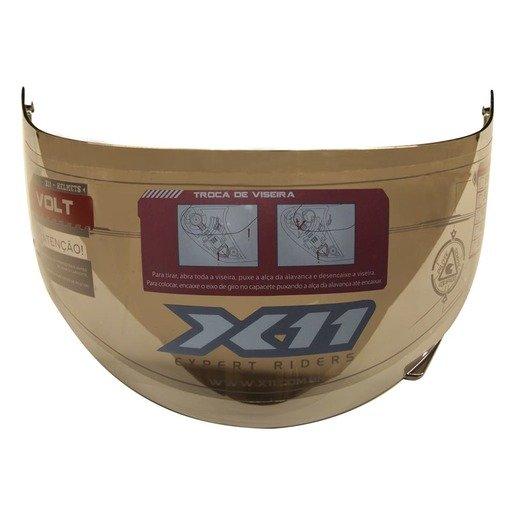 Viseira Capacete X11 Volt Prata Cromada 2mm